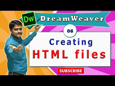 Dreamweaver Tutorial 06 - Creating & Saving HTML Files