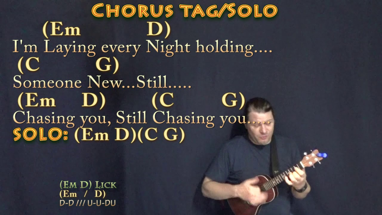 Chasin You Morgan Wallen Ukulele Cover Lesson In Em With Chords Lyrics Youtube