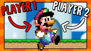 Super Mario World but Player 1 or 2 Randomly Takes Control!