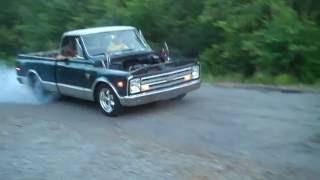 LS1 Burnout 1968 chevy truck C/10