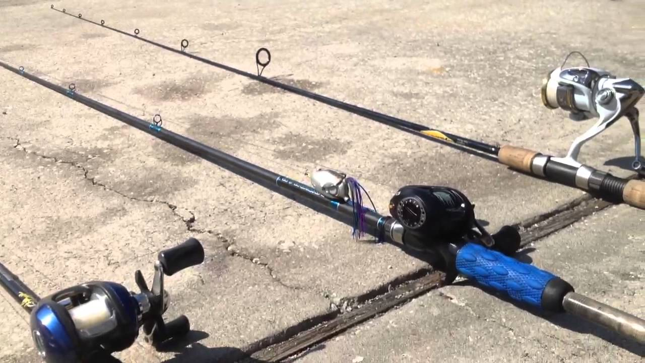 Bass fishing rod and reel review youtube for Bass pro fishing poles