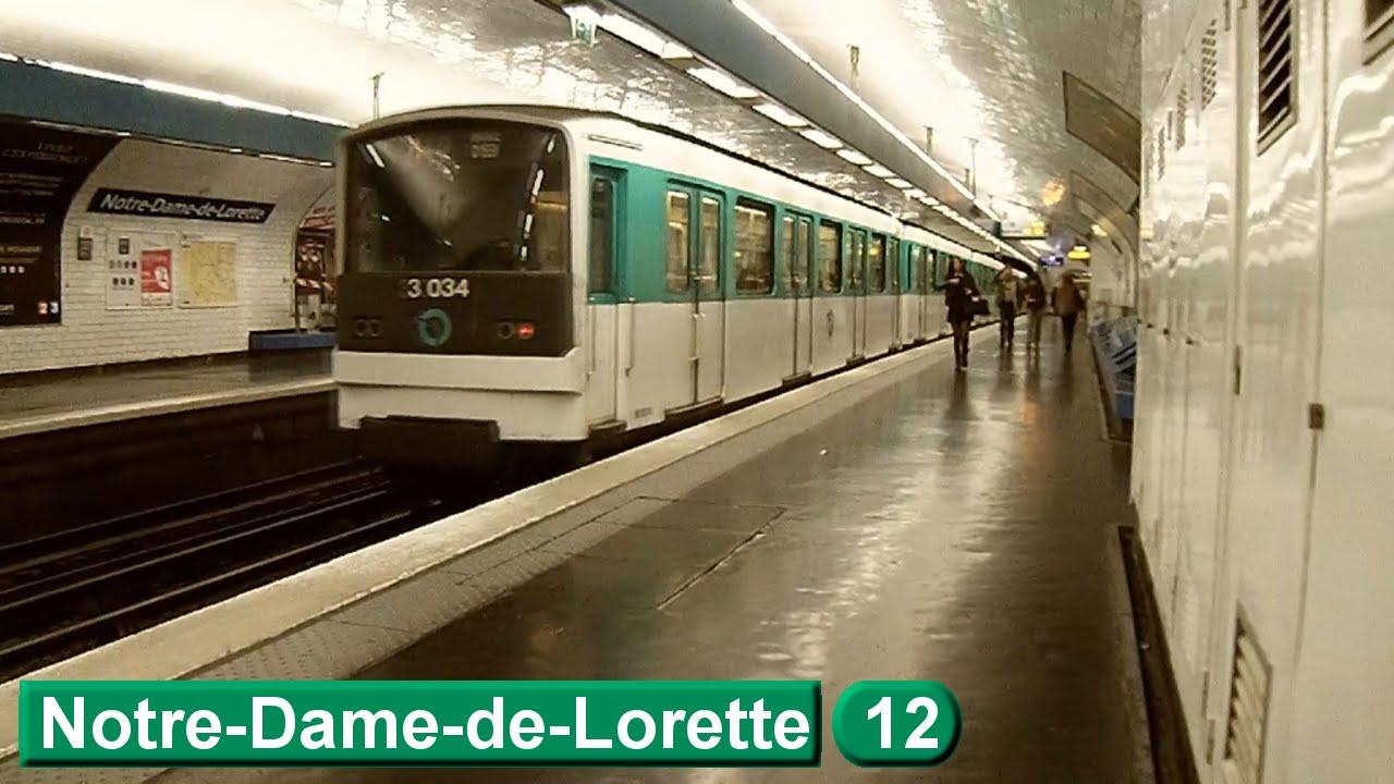 Paris m tro notre dame de lorette line 12 ratp mf67 - Metro notre dame de lorette ...