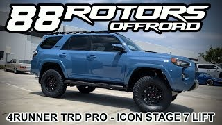 2018 Toyota 4Runner TRD Pro Cavalry Blue Icon Stage 7 & 285/70/17