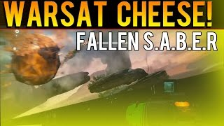 Nightfall Cheese! - FALLEN S.A.B.E.R Bypass The Warsat Glitch Spot - Destiny The Taken King