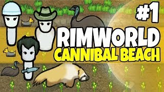 Rimworld - Cannibal Beach #1 - Human Sushi