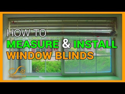 how to measure and install window blinds