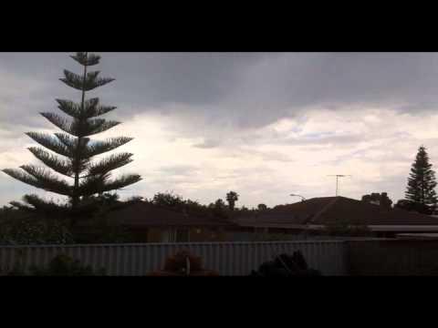Perth Western Australia Clarkson Storm Thunder Lightning Rain 28.10.2012 36C/97F day