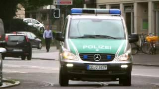 FuStW Polizei Leipzig Einsatzfahrt mit Blaulicht und Martinshorn