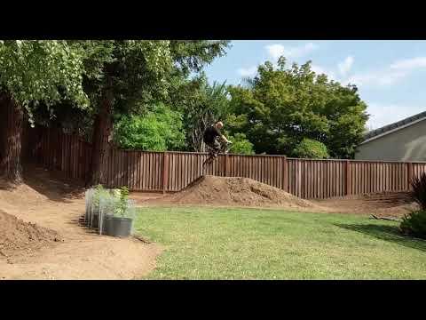 Backyard BMX Course - Dirt Jump Track and Quarter Pipe Build Progress