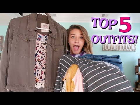 MY TOP 5 BACK TO SCHOOL OUTFITS!