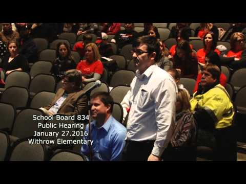 School District 834 Withrow Elementary School public hearing January 27, 2016