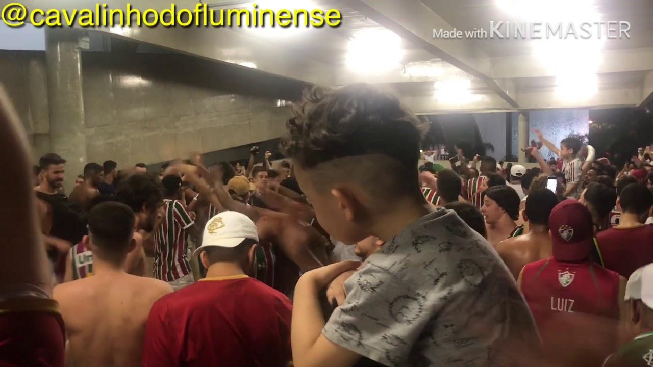 Fluminense 2x0 Bahia - Saída da torcida do Fluminense