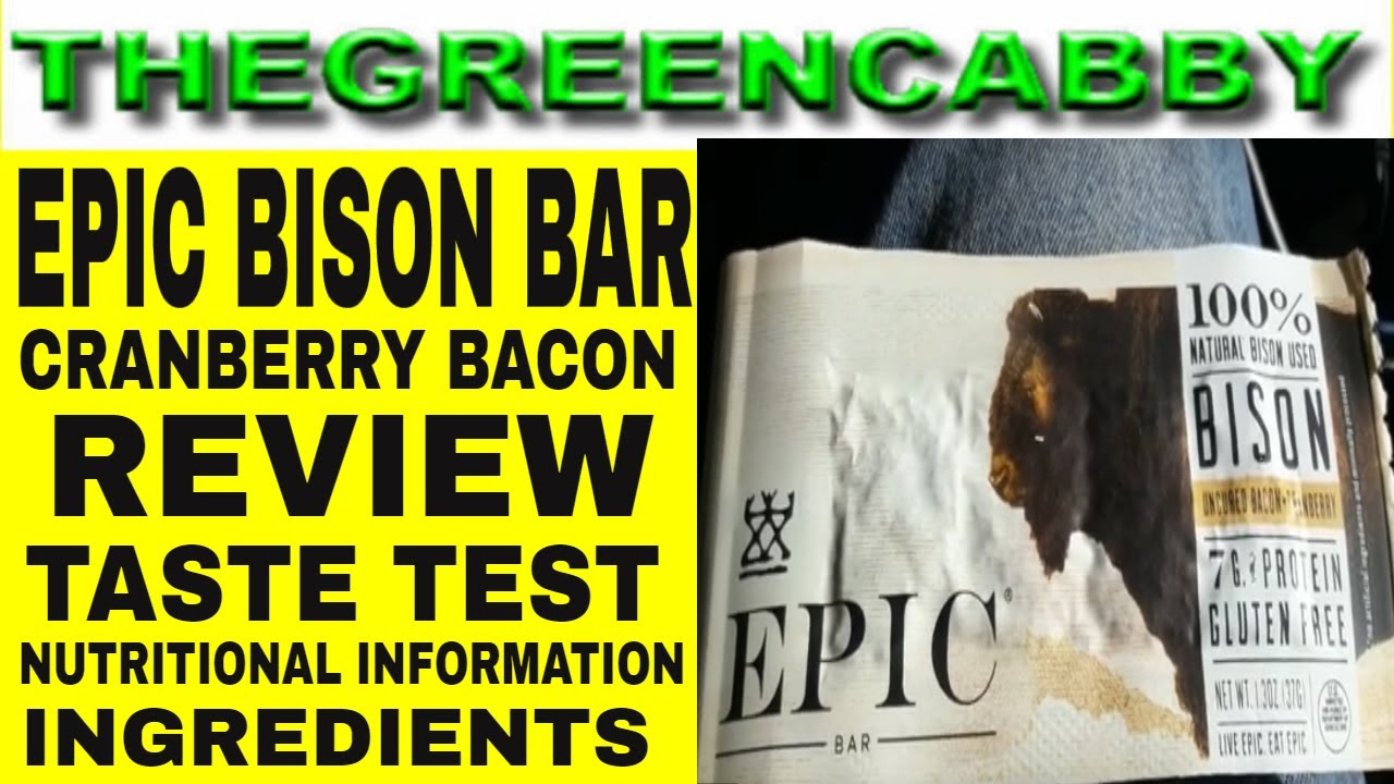 EPIC BISON BAR Cranberry Bacon - EPIC
