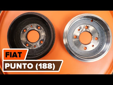 How to replace rear brake drum and brake pads FIAT PUNTO TUTORIAL   AUTODOC