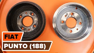 How to change Brake Drum FIAT 500X - step-by-step video manual