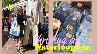 Vintage shoppen op Waterlooplein! Levis, FILA en meer! | Aimée van der Pijl