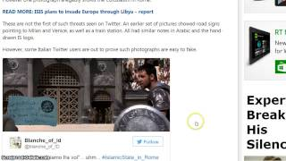 SITE, I Mean ISIS Releases Twitter Photo's (Twits) About Attacking Italy