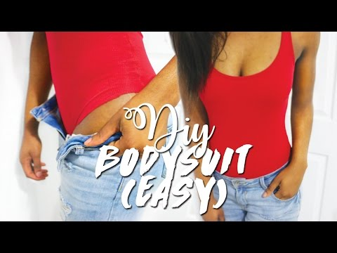 DIY BODYSUIT - NO SEW (2 MINS)