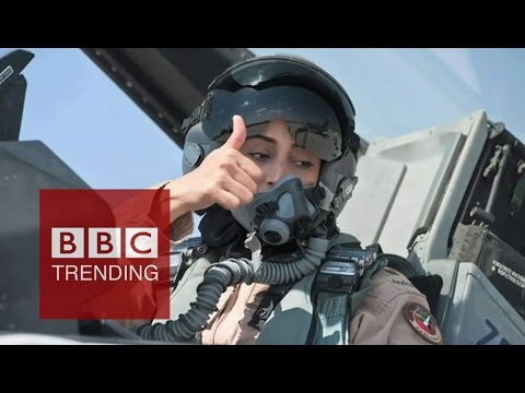 Female pilot who took on Islamic State & caused a Twitter storm