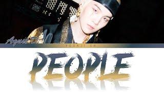 Agust D (슈가) - People (사람) Lyrics [Color Coded Han/Rom/Eng]