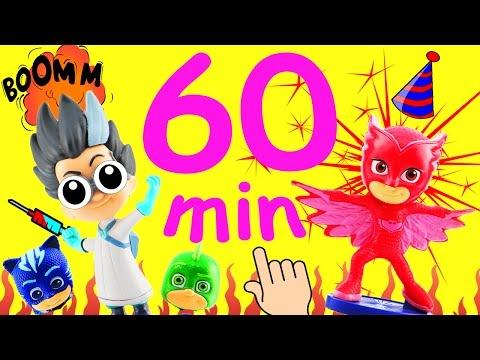 PJ Masks Toy Compilation 2 Over 1 Hour Long! PJ Masks Episodes w Owlette Catboy Gekko Spin the Wheel