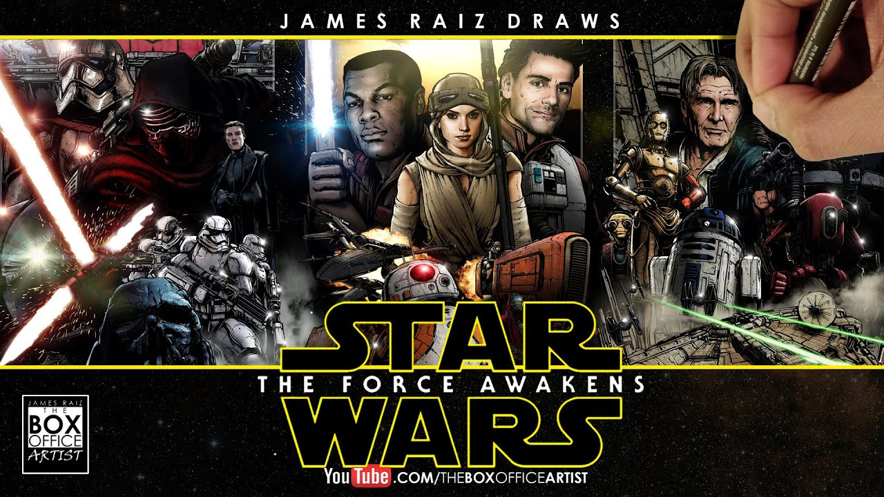 STAR WARS THE FORCE AWAKENS THE FULL COLORED DRAWN TRAILER