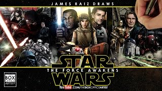 STAR WARS THE FORCE AWAKENS: THE FULL COLORED DRAWN TRAILER