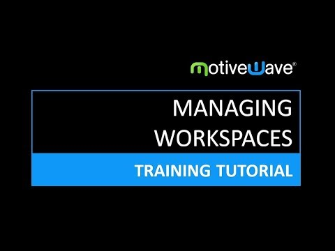 Creating and Managing Workspaces (Broker and Data Feed Connections) in MotiveWave Trading Platform