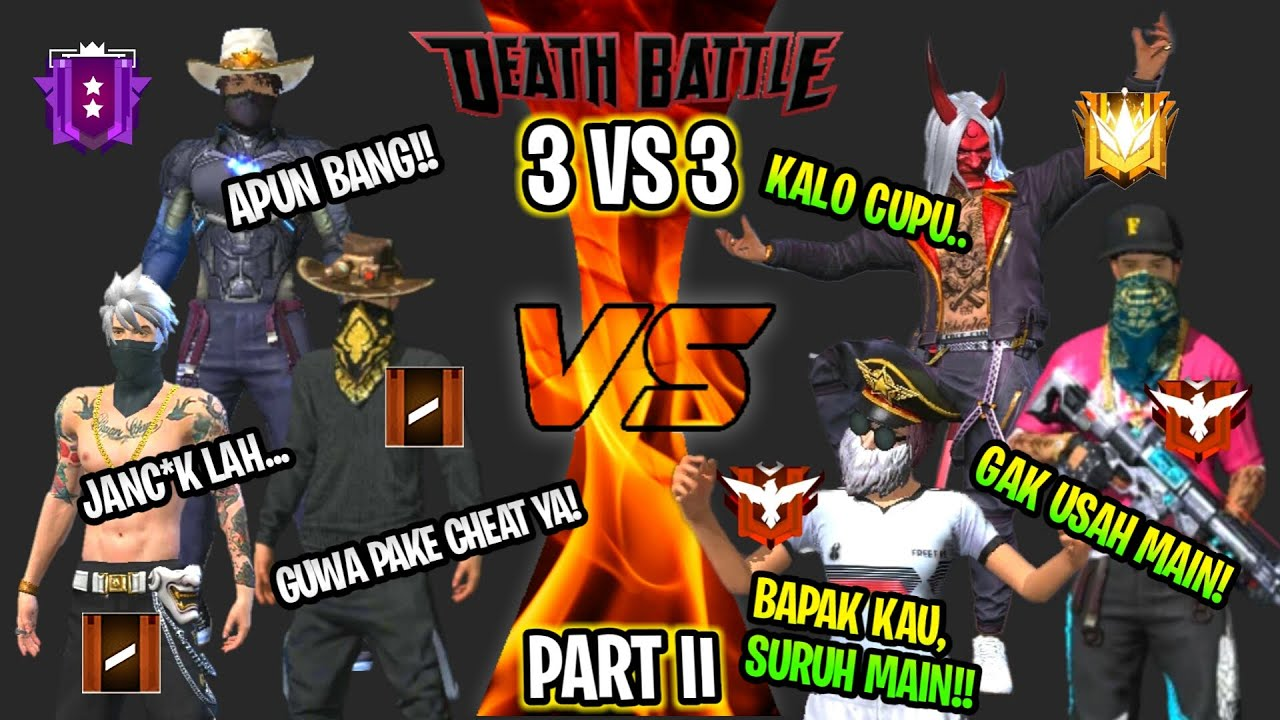 🔥 FREE FIRE - DITANTANG MASTER SONGONG 3V3!! FANS FROLTAL GAMING VS HIRO 10 FANS!!!