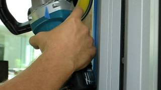 Fastest Scratched Glass Repair - Edge Work Test Sample - Unscratch The Surface, Inc.