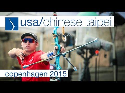USA v Chinese Taipei – Recurve Men's Team Bronze Final   Copenhagen 2015