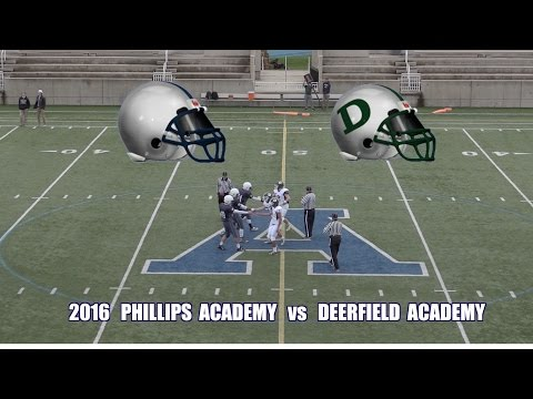 2016 Phillips Andover JV Football vs Deerfield Academy JV