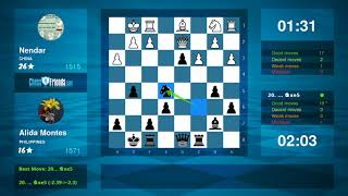 Chess Game Analysis: Nendar - Alida Montes : 0-1 (By ChessFriends.com)