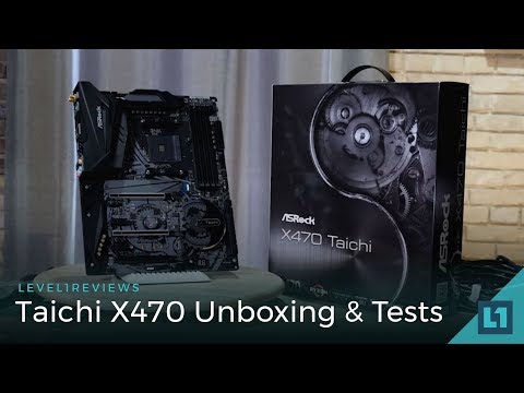 Taichi X470 - Unboxing,  Linux Test, OC Test, Zen+ 4 stick memory speed tests