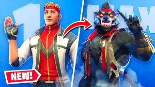 Unlocking *MAX* Tier Werewolf (Dire) Skin In Fortnite!