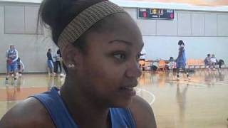 Lady Vols center Kelley Cain talks about her game