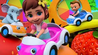 Learning Fruits for Children with Little Babies and Elephant Fun Play 3D | Cars Toys Cartoon Edu