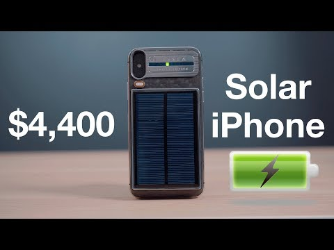 Hands On With Caviar's $4,400 'Tesla' Solar Charging iPhone X