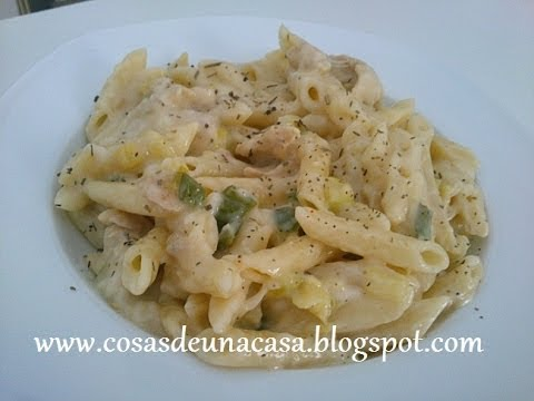 Pasta con pollo y salsa b chamel youtube for Que cocinar con pollo