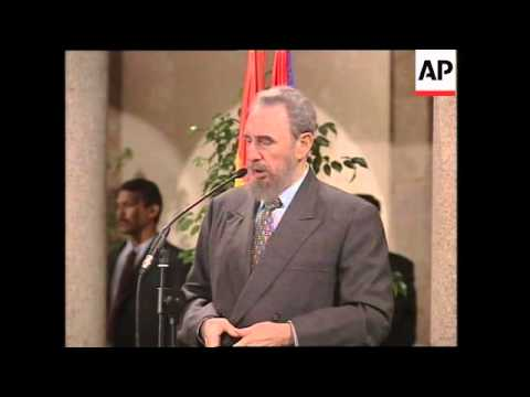 SPAIN: CUBAN LEADER FIDEL CASTRO VISIT