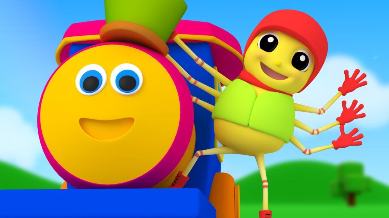 Bob The Train | Incy Wincy Spider | Nursery Rhymes | Kids Songs | Baby Rhymes | Kids Tv Cartoons