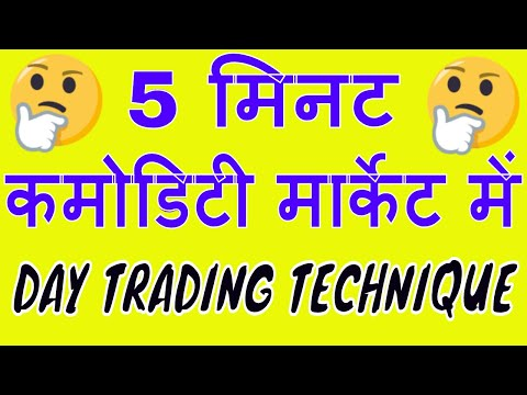 5 Minute INTRADAY TRADING TECHNIQUE IN COMMODITY MARKET.