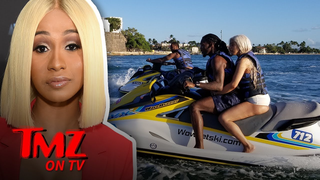 Cardi B And Offset Together On A Jet Ski In Puerto Rico Tmz Tv