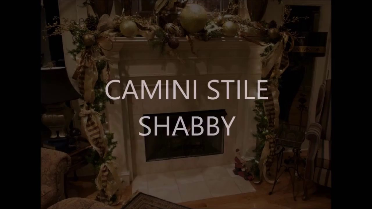 Fireplace shabby chic style diy x mas camino natale youtube for Camino finto shabby