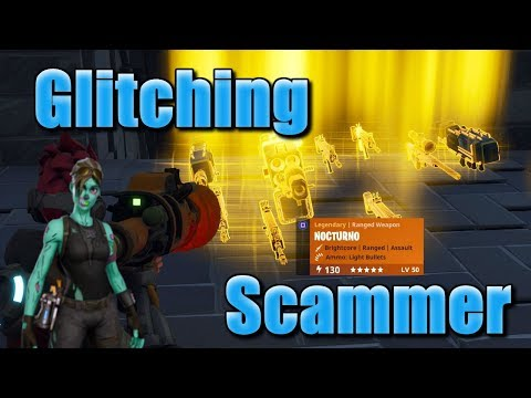 Fortnite Save The World Glitching Scammer Gets Scammed For Best Loot! *Must Watch*