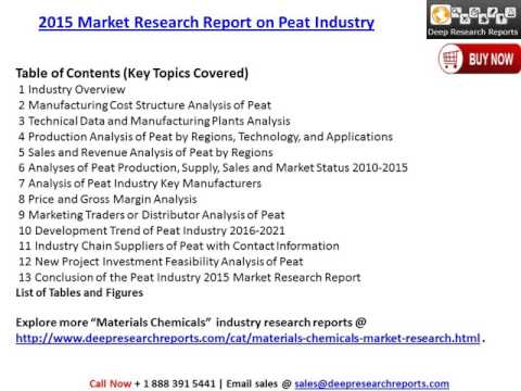 Global Peat Market  (Value, Cost or Profit) 2021 Forecasts Analysis Report