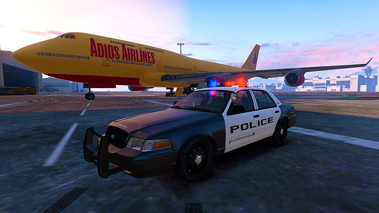 gta 5 airport without police