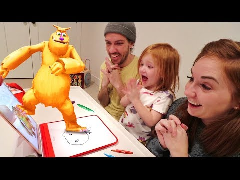 MY PET MONSTER!! Adley has a NEW bedtime routine! Learning Magic to bring art to life with OSMO!