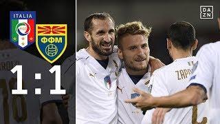 Italien patzt und muss in die Playoffs: Italien - Mazedonien 1:1 | Highlights | WM-Quali | DAZN