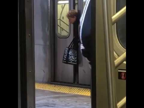 NYC Woman head stuck between train doors